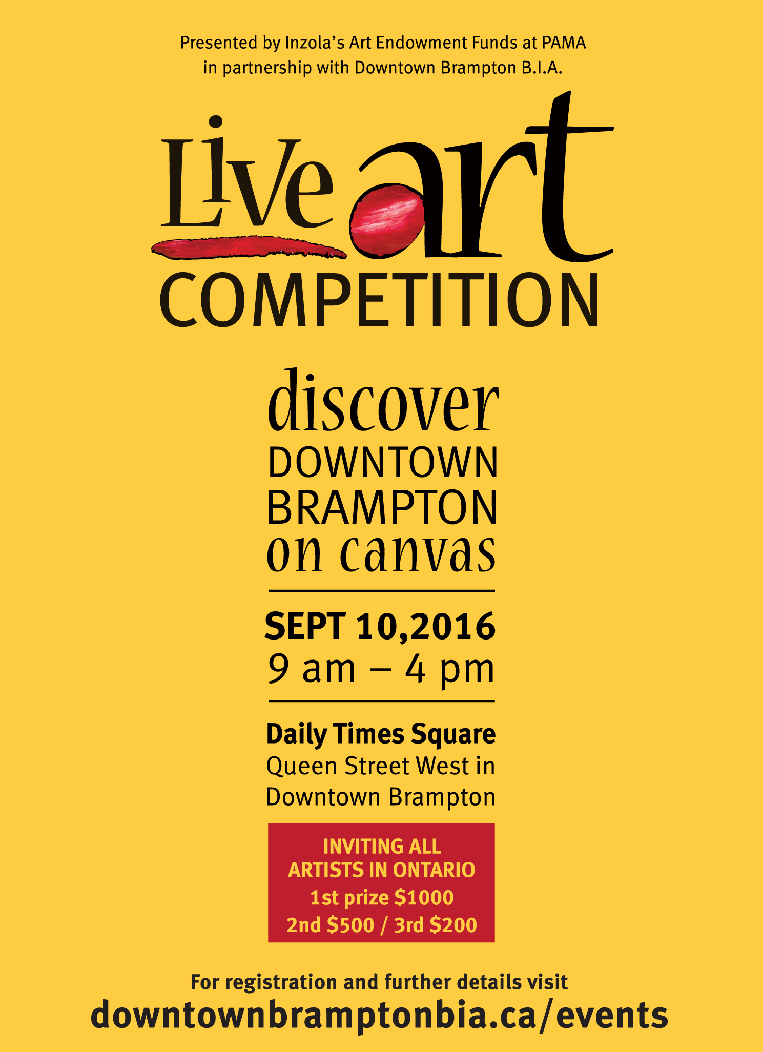 Live Art Competition September 10 2016
