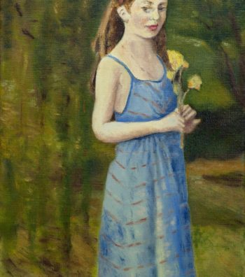 Alissia in the Garden, 12x28, OonC