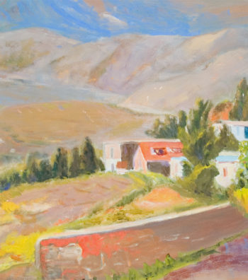 Village of Calabria, 34x24, OonC